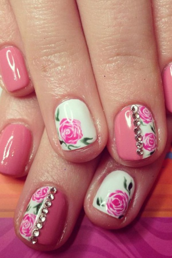 Awesome flower nail designs!