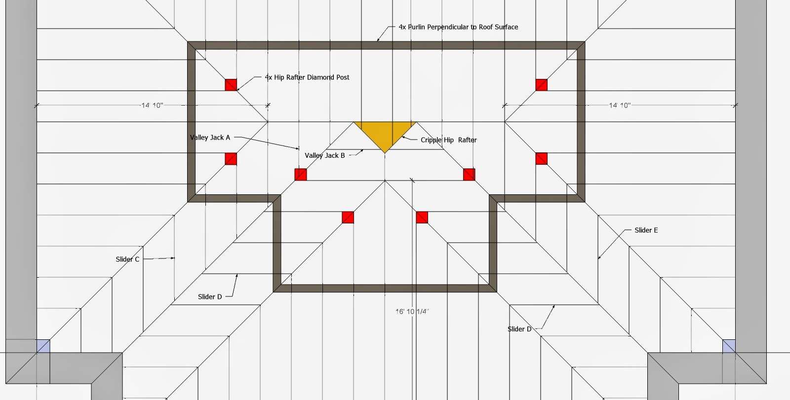 Roof Framing Geometry Hip Amp Valley Roof Framing Example 1