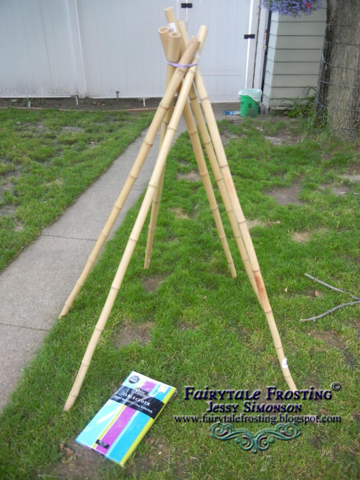 Fairytale Frosting: DIY Super Simple Backyard Teepee