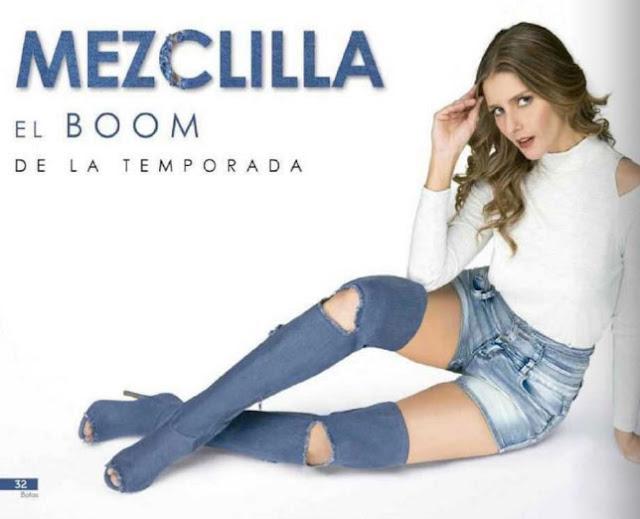 botas azul mezclilla