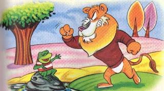 fabula con moraleja el leon y la rana