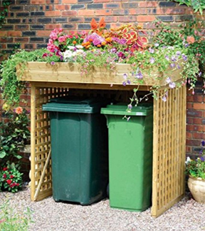 Attractive And Practical Binstore Without Trellis Doors