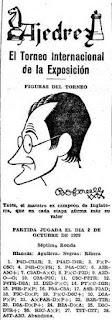 Recorte del Mundo Deportivo de 4-10-1929 sobre el Torneo Internacional de Ajedrez Barcelona 1929