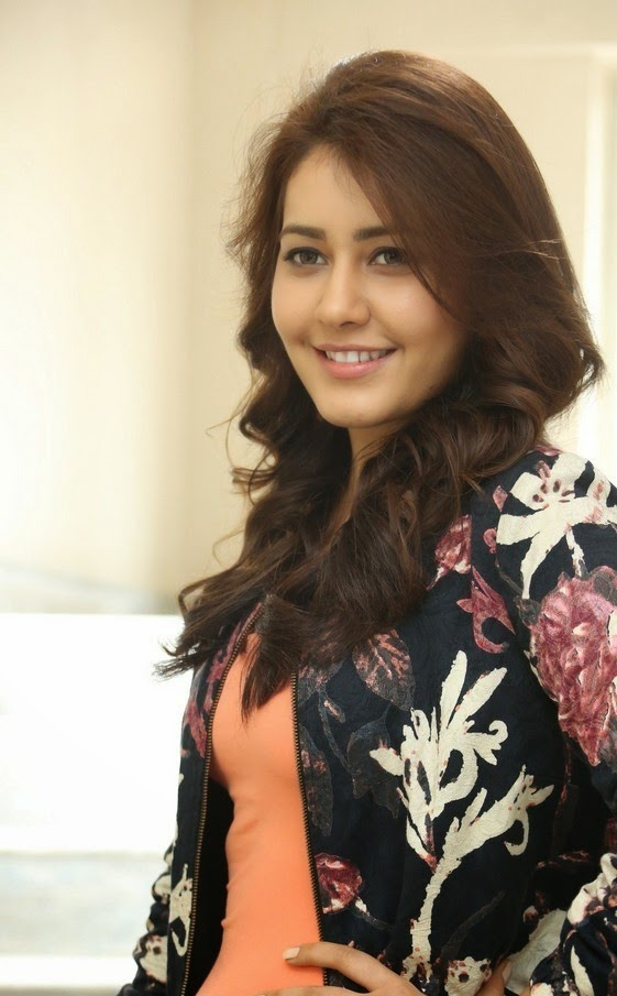 Rashi Khanna Long Hair Stills in Black Dress
