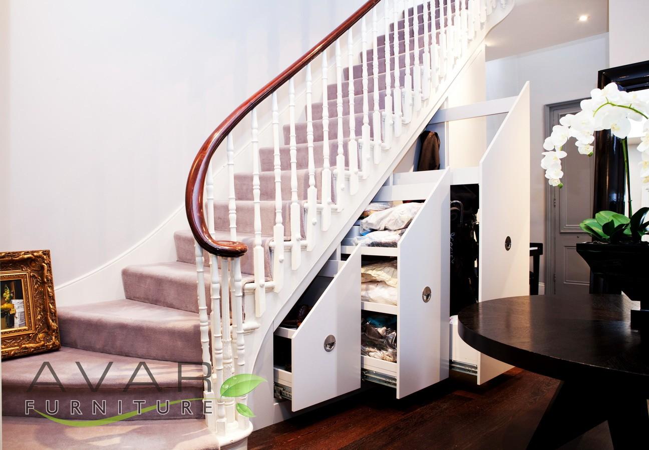 Victorias corner hidden storage solutions for Door under stairs