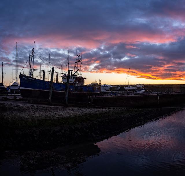 Photo of Maryport Marina slipway at sunset