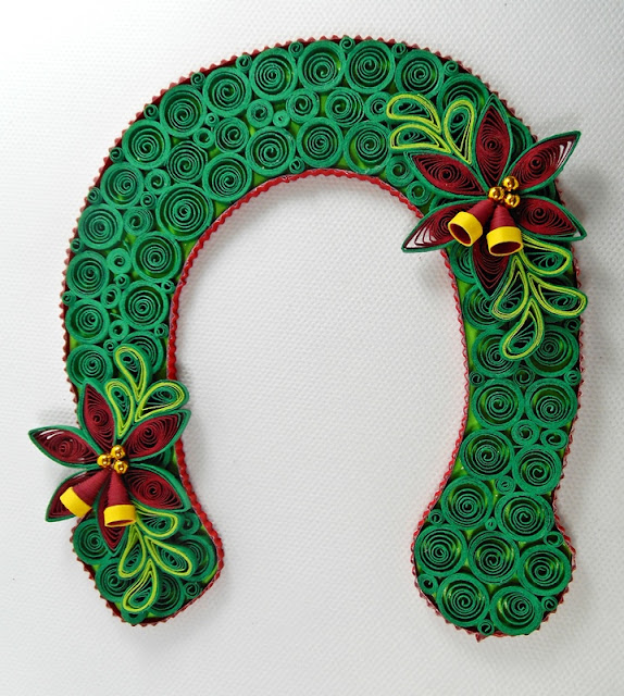 quilling, kopyto, kwiaty, dzwoneczki, rękodzieło