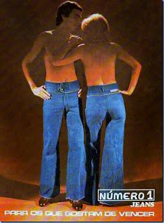 propaganda Jeans Número 1 - anos 70. moda anos 70; propaganda anos 70; história da década de 70; reclames anos 70; brazil in the 70s; Oswaldo Hernandez