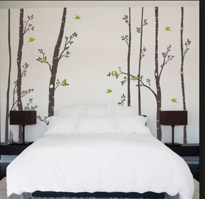 Inspirasi Desain Kamar Tidur  Dengan Nuansa Pepohonan Yang Adem Dan Asri 2