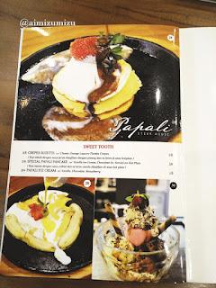 Papali steak house Padang menu 3