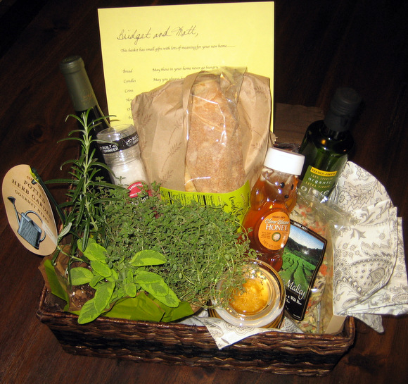 The perfect gift for a new homeowner- basket o' blessings