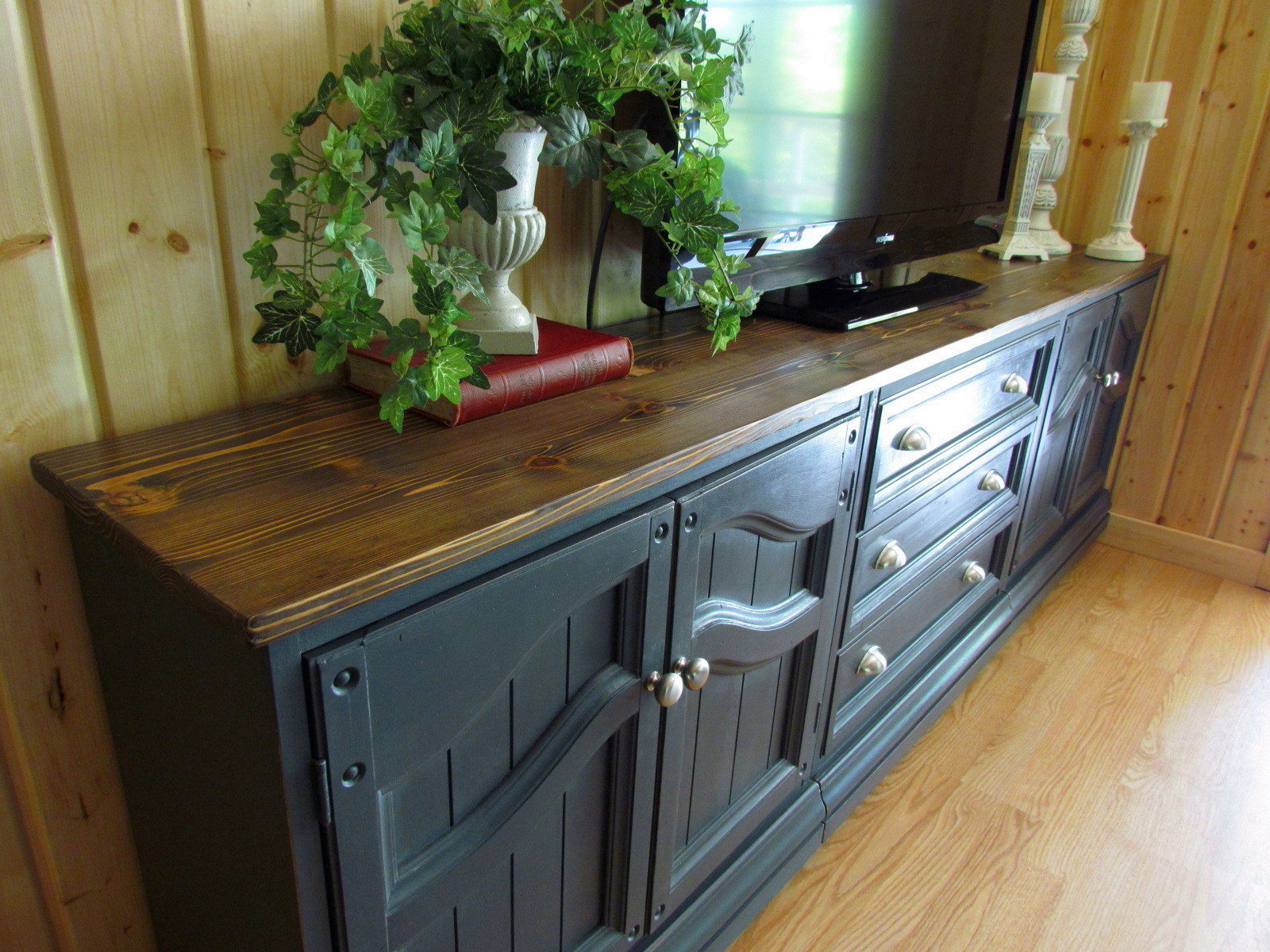 Tall Kitchen Island Table Wildwood Creek Tv Cabinet In Graphite