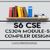 CS304 Compiler Design Module-5 Note | S6 CSE