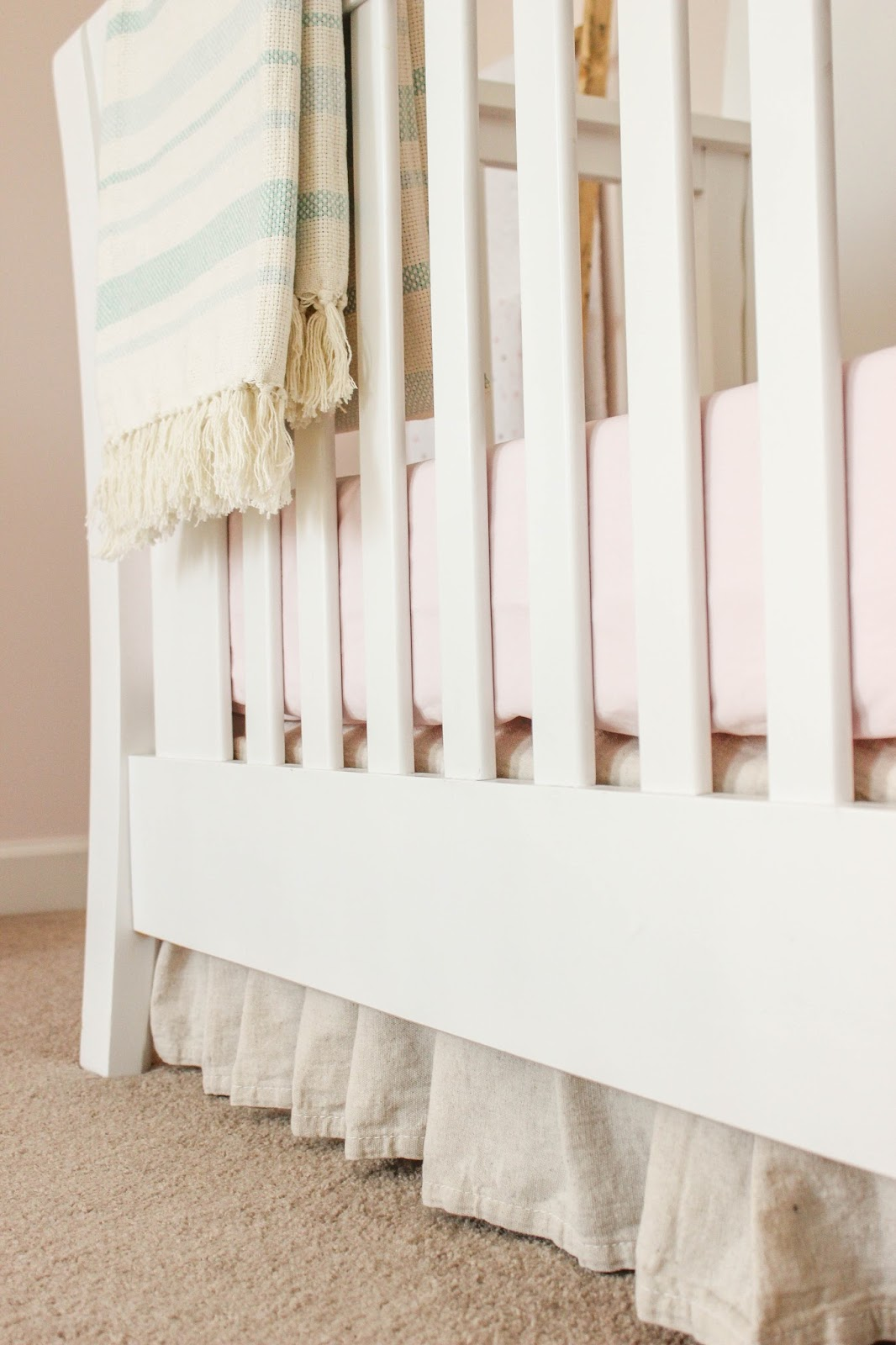 drop cloth crib skirt