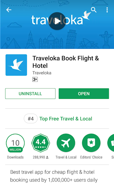 Cara Menempah Tiket Penerbangan dengan Apps Traveloka