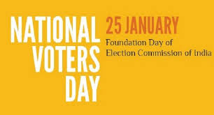 Celebrations on account of National Voters' Day on 25th January, 2018guidelines
