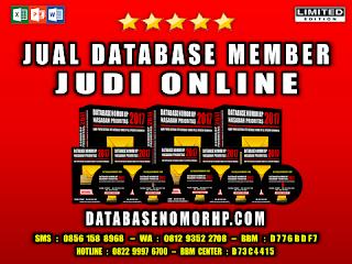 Jual Database Member Judi Online
