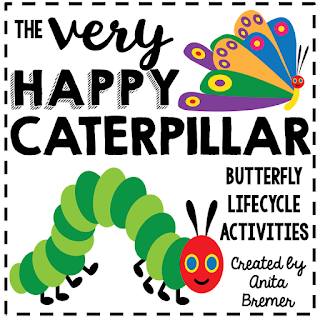Very Hungry Caterpillar book study companion activities and butterfly life cycle learning activities for Kindergarten and First Grade