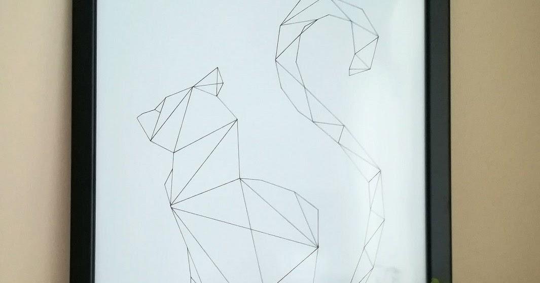 Lubię Tworzyć Geometryczny Kot Obraz Diy