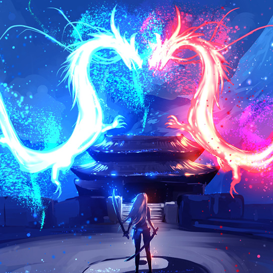 Twin Dragons Wallpaper Engine