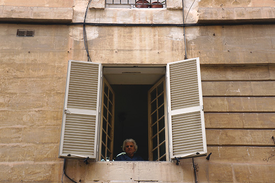 urban photography, old lady in window, morning, urban photo, street photo, street photography, contemporary photography, Sam Freek,