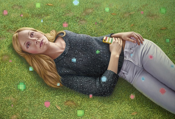 "por Alex Gross - ""Daydreamer"", 2014."