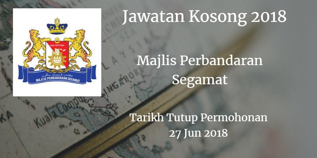 Jawatan Kosong MPSegamat 27 Jun 2018