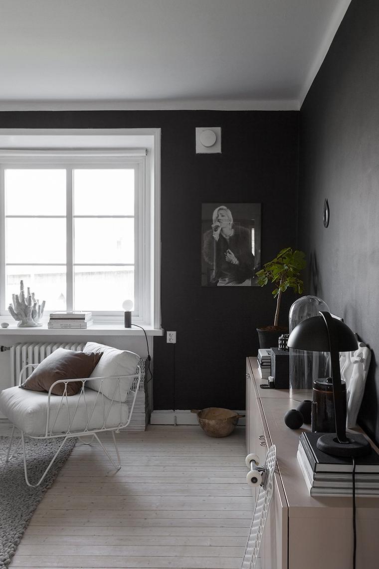 Decorar hogar en color negro