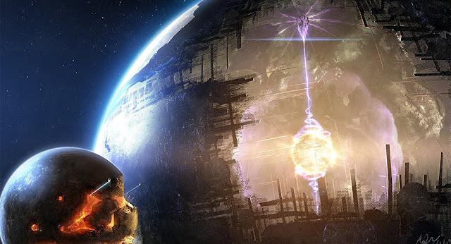Ilustração artística de uma Esfera de Dyson -  Adam Burn