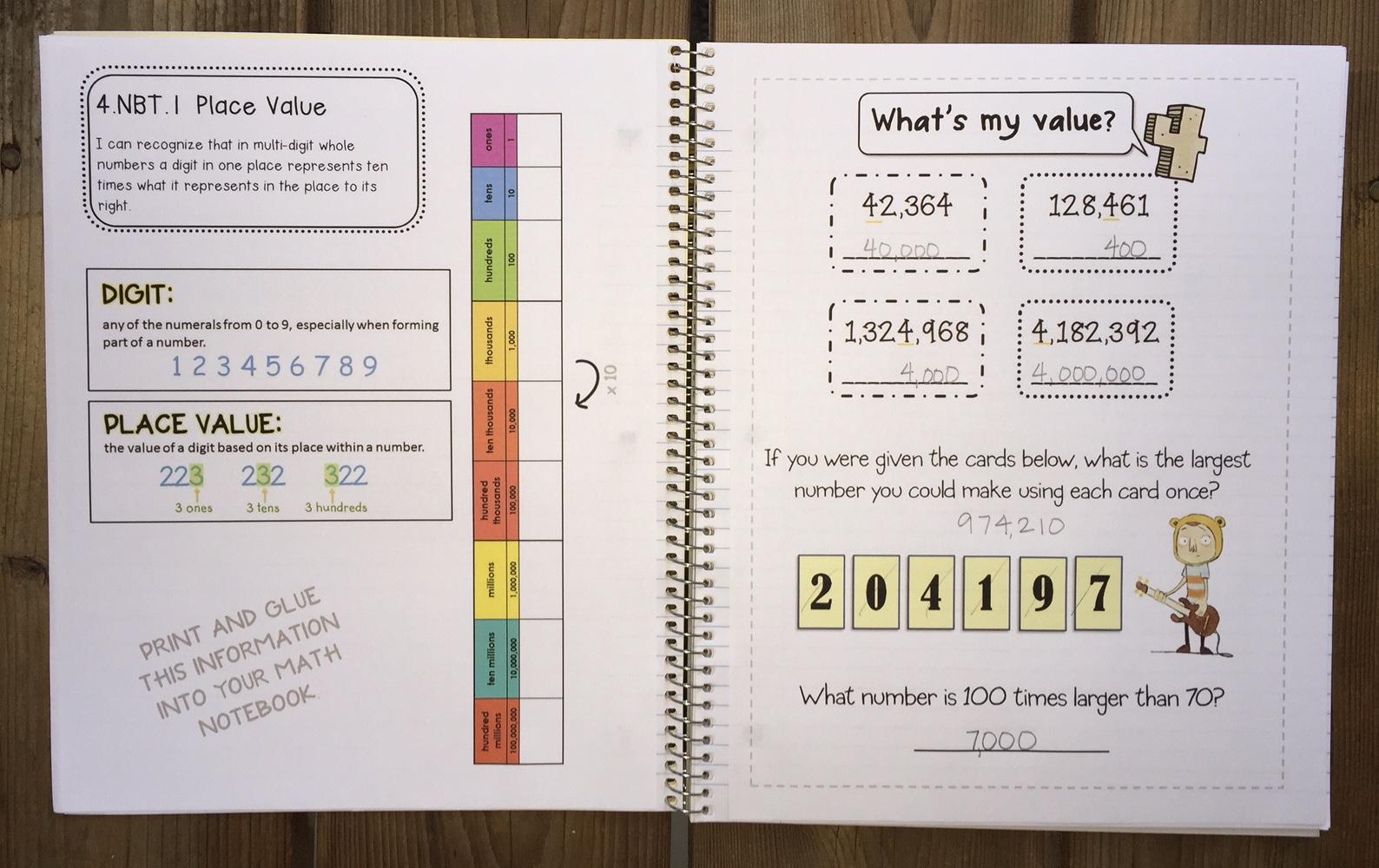Bloggerific Math 4 The Place Value Shuffle