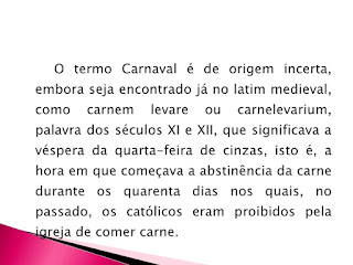 o termo carnaval