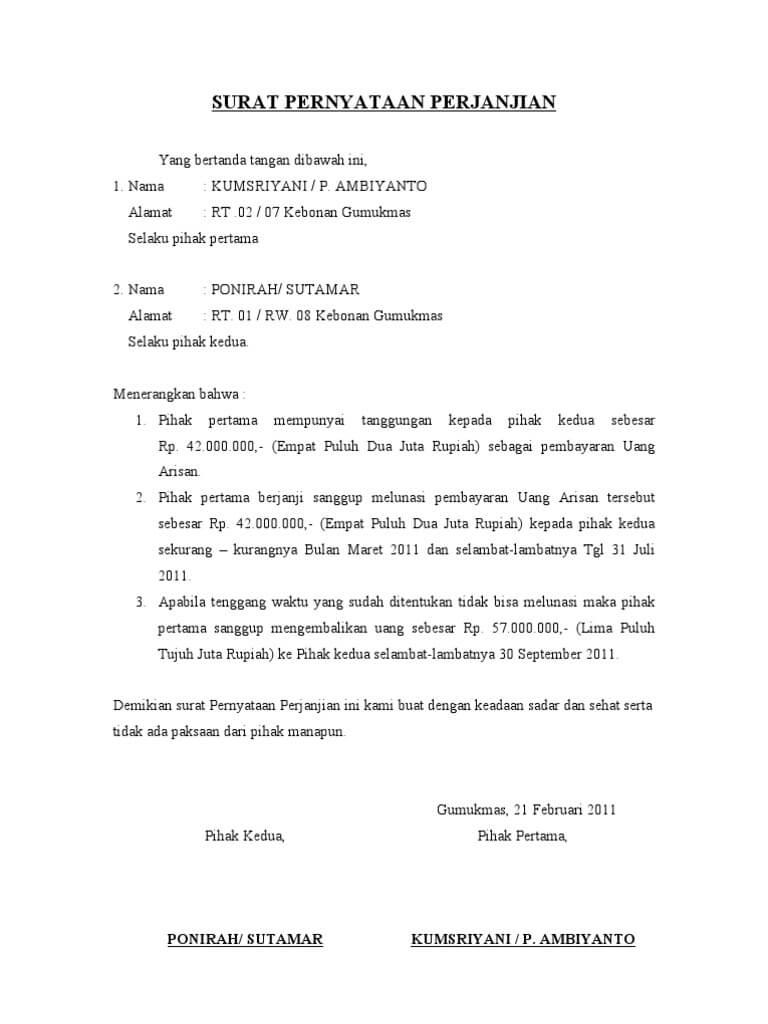 Contoh Surat Pernyataan Diri, Kesalahan, Sekolah ...