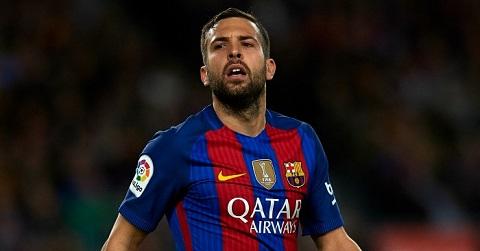 Jordi Alba chưa lấy lại được phong độ sau chấn thương