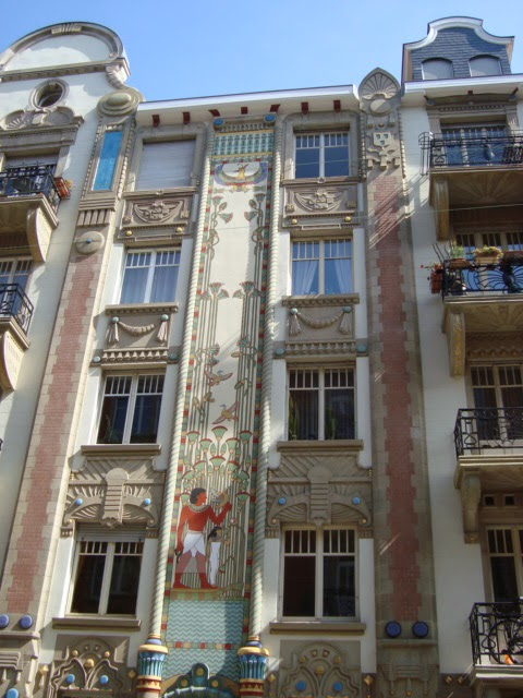 Paseos art nouveau immeuble egyptien 10 rue du g n ral for K architecture strasbourg