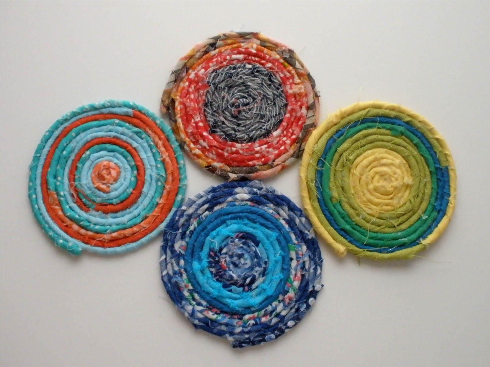 Fabric scrap coasters craft stash bash 11 handmade by for Fabric crafts to make