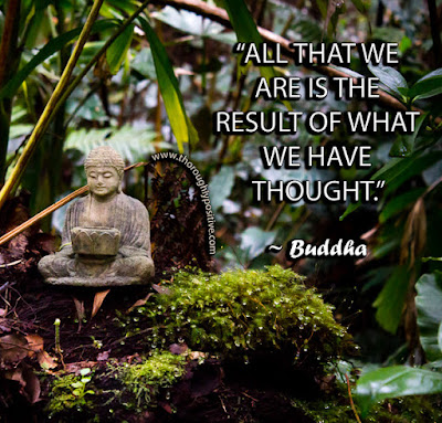 """All that we are is the result of what we have thought."" ~ Buddha Picture of a Buddha statue in a Hawaiin rain forest"