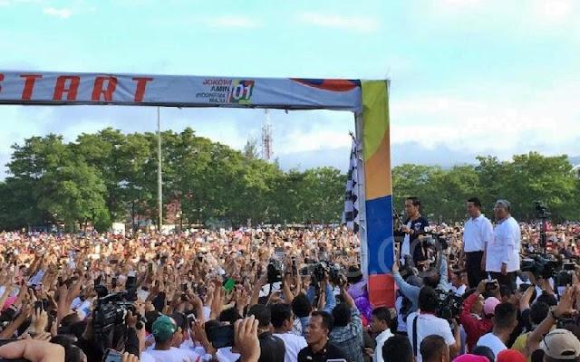 Beri Aba-Aba Start Jalan Sehat, Jokowi Hitung Mundur Tanpa Angka 2
