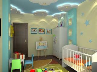 ديكورات جبسم بورد غرف نوم اطفال 2017