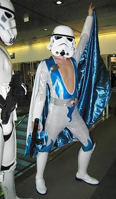 Stormtrooper de star wars como el Elvis