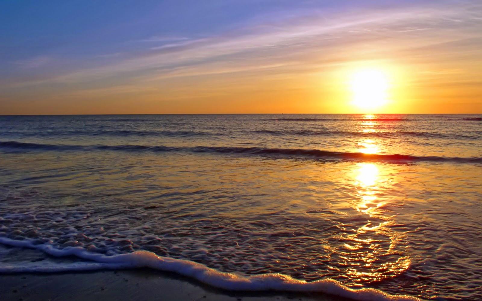Beautiful Beach Sunset HD Wallpapers - Images HD - photo#7
