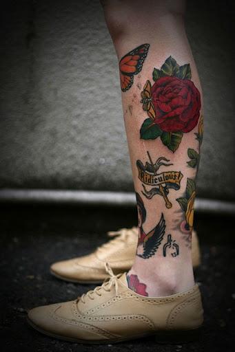 Misturar e Combinar Perna Tatuagens