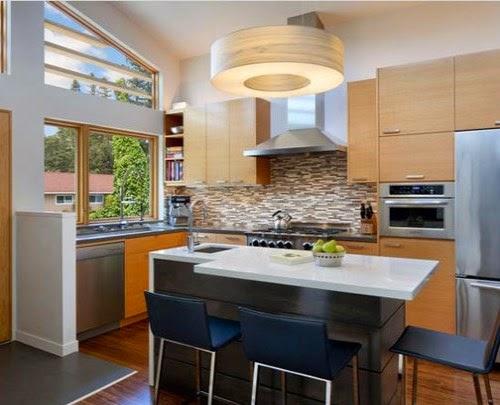 Model dapur minimalis terbaru yang menyatu dengan ruang makan