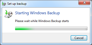 Backup Data Komputer Windows 7 Mulai backup