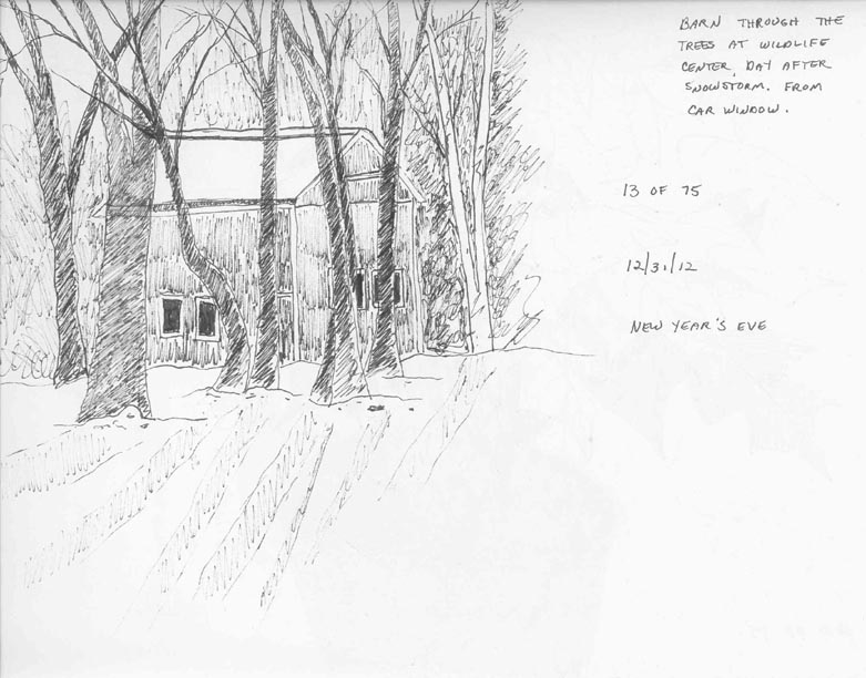ISketch4Fun A Sketch Through My Car Window - Day 13 Of 75