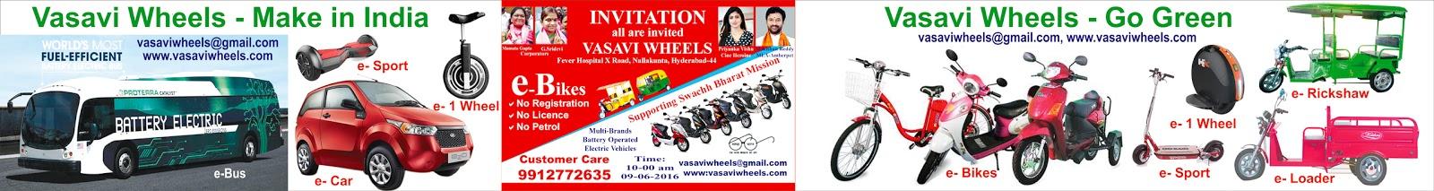 Vasavi Wheels | Go Green Eco Project | Battery operated Vehicles