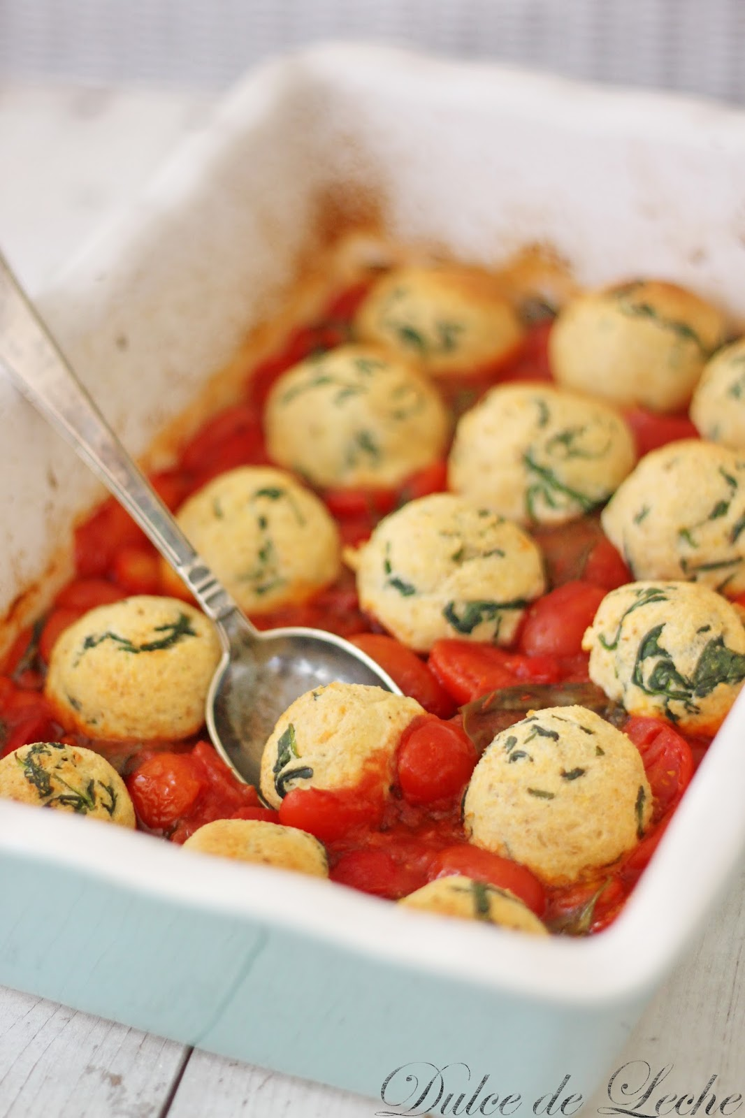 Ricottovo špenátové guľky v rajčinovej omáčke