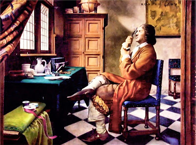 Antonie Van Leeuwenhoek doing Invention Photo