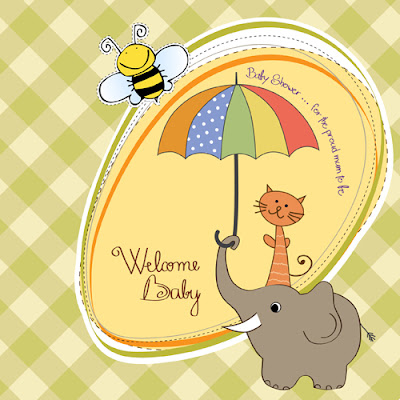 New baby Card vector