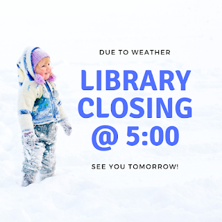 Library Closing at 5:00PM, February 12, 2019