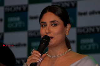 Bollywood Actress Kareena Kapoor Stills in Beautiful Silk Long Dress at Sony BBC Earth New Channel Launch  0018.jpg